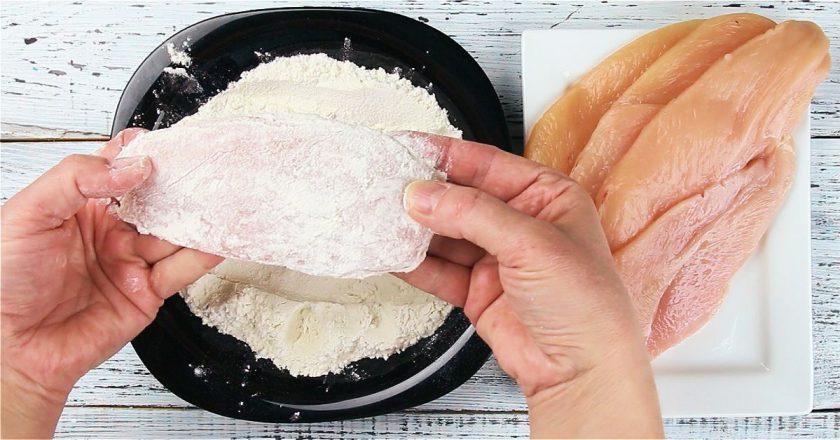 Курица в панировочных сухарях и сыре