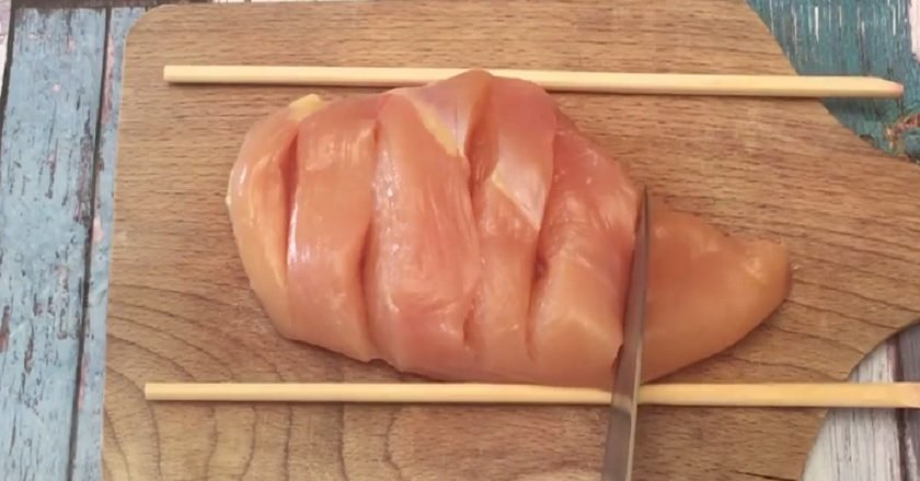 Куриная грудка с моцареллой