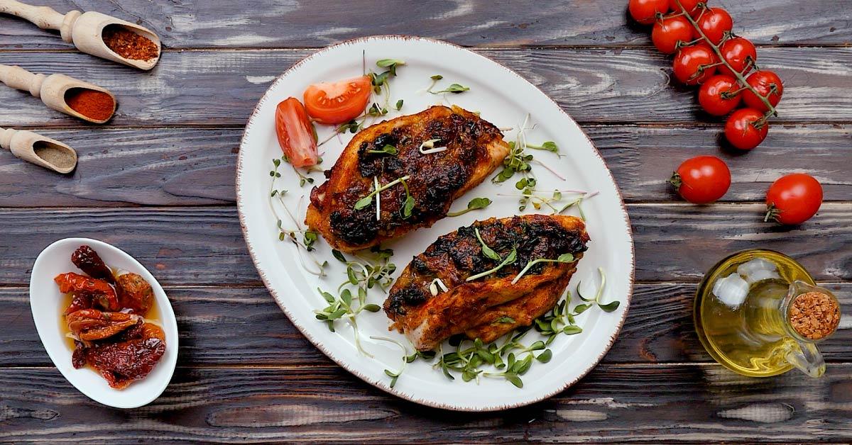 готовая куриная грудка со шпинатом и моцареллой