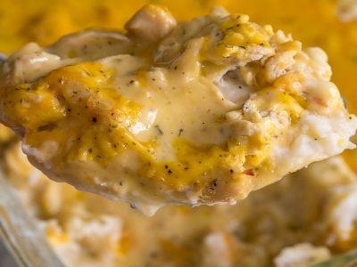 Куриная запеканка с сыром