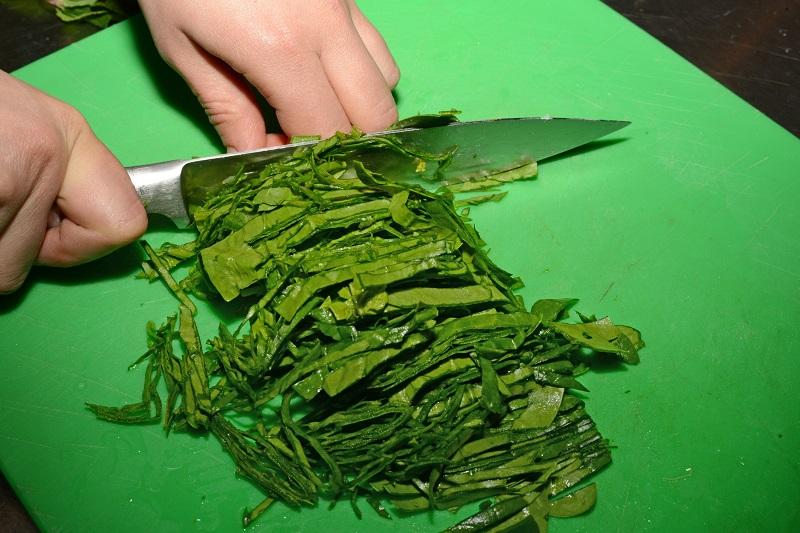 рубленый шпинат