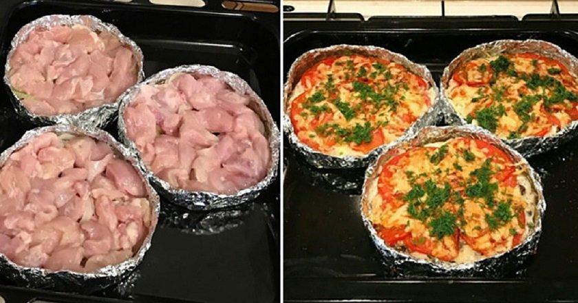 Блюдо из куриное филе в духовке