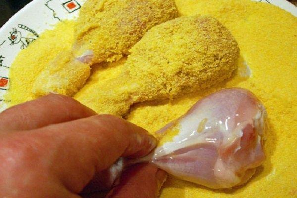 куриные голени в панировке