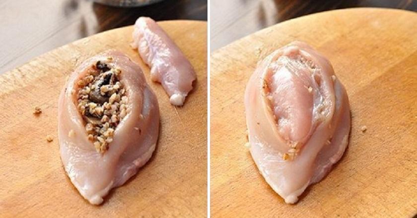 Куриные грудки с гречкой