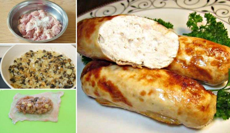 колбаски из курицы в натуральной оболочке