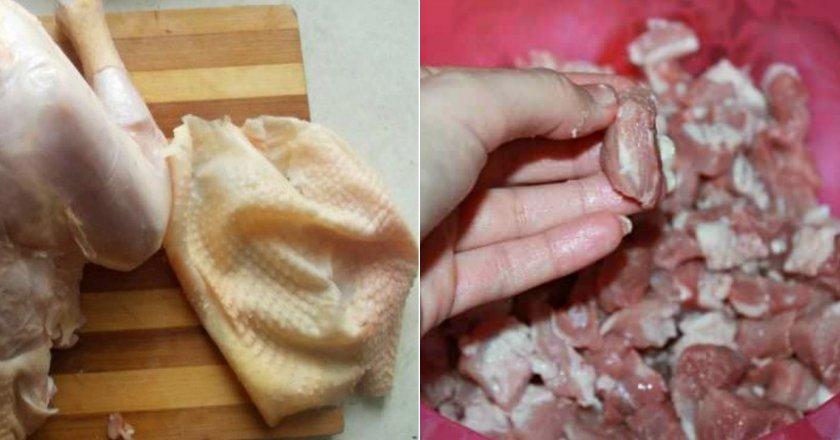 Куриные колбаски в натуральной оболочке