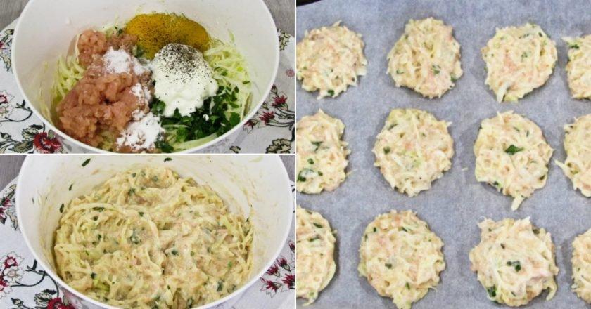 Курячі котлети з капустою в духовці подивитися рецепт