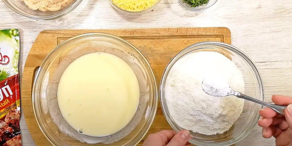 ингредиенты для лепешки