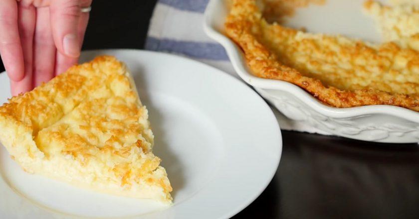 Лимонный пирог на молоке