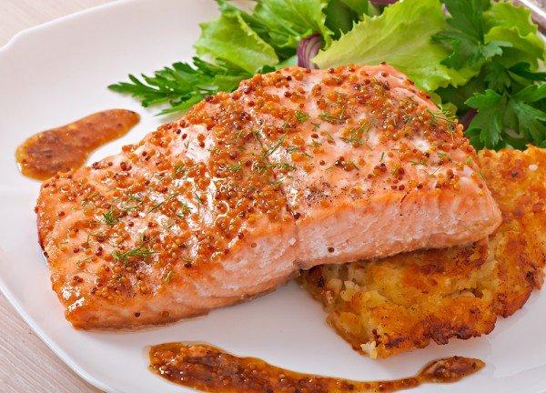 лосось в горчичном соусе
