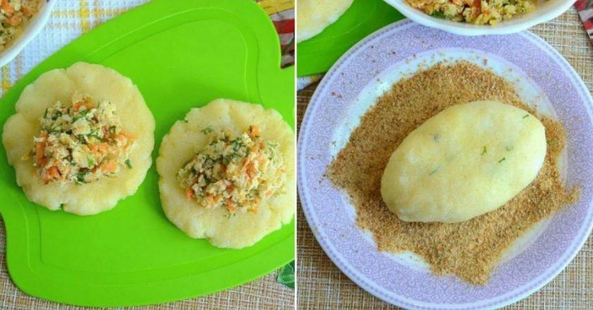 Зрази манні з куркою і овочами подивитися рецепт