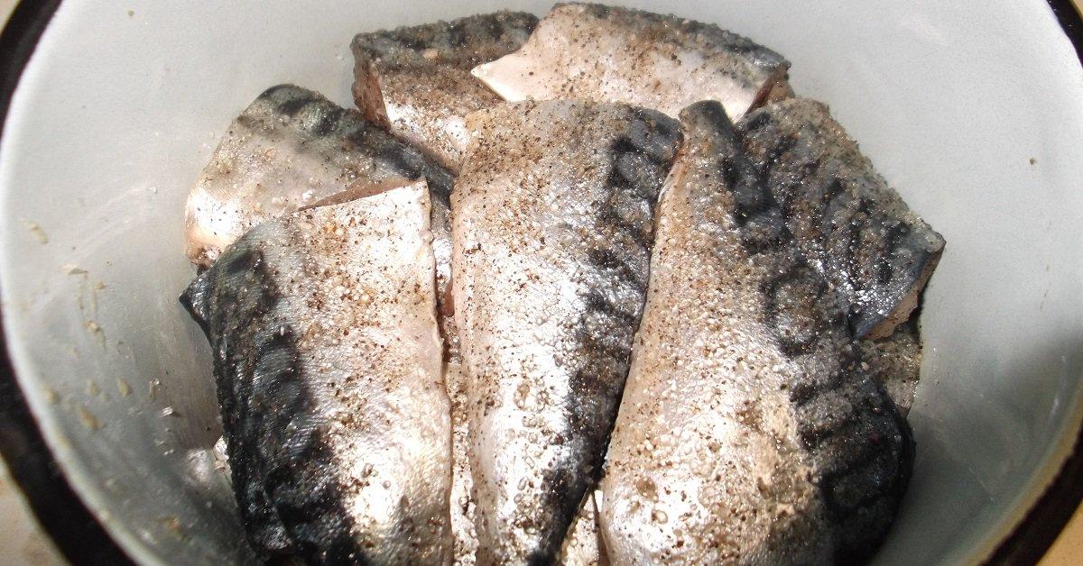 Солёная скумбрия в рассоле рецепт с фото