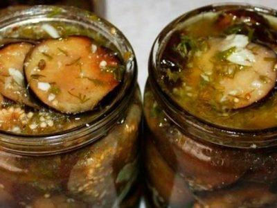 Маринованные баклажаны с чесноком и орехами
