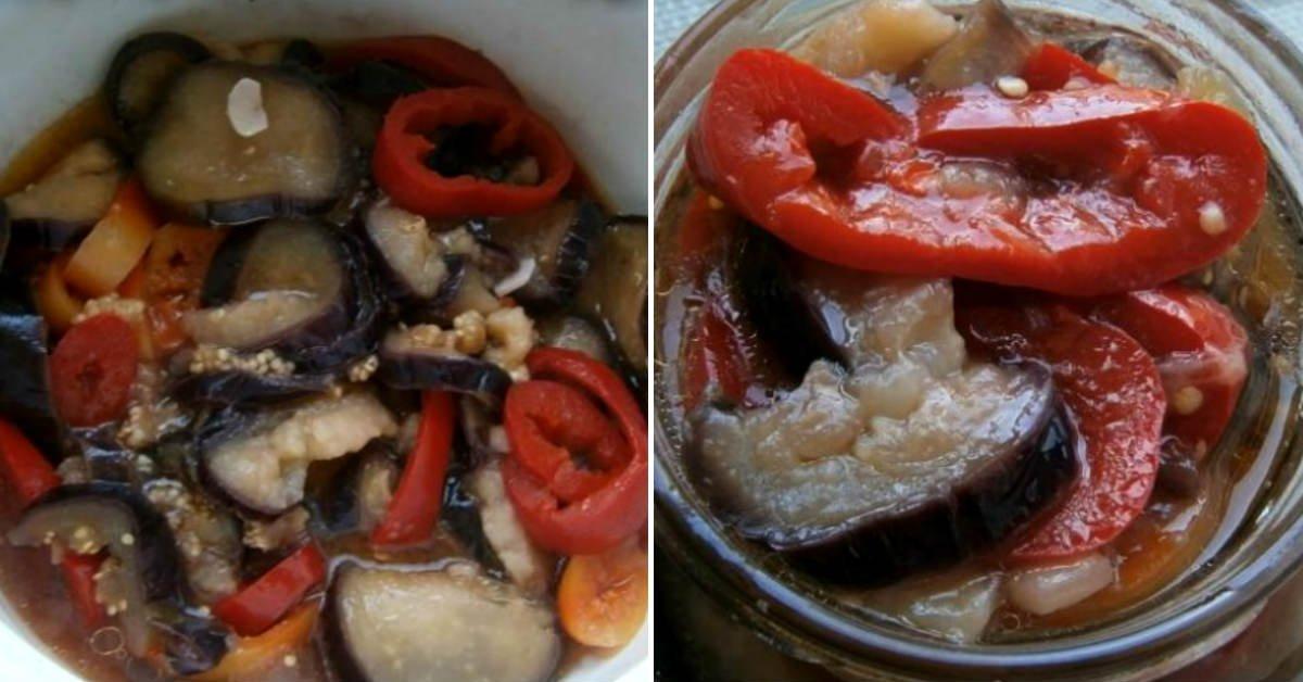 Мариновані баклажани з перцем швидкого приготування