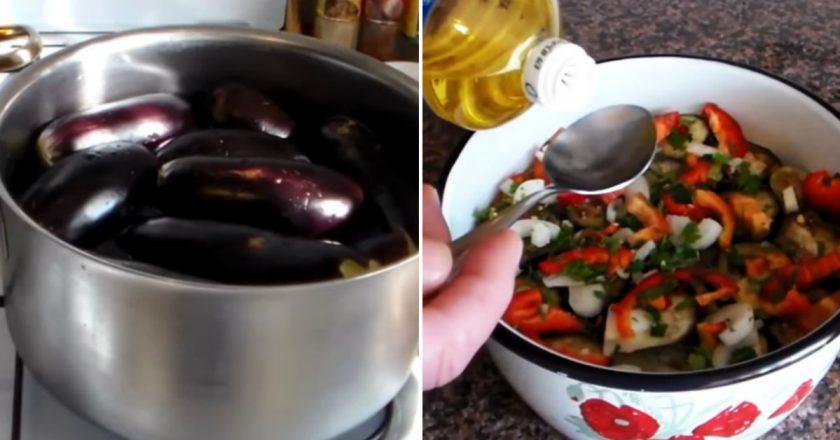 Мариновані баклажани з перцем швидкого приготування подивитися рецепт