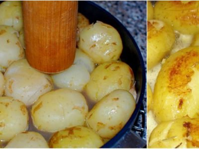 Молодая картошка на бульоне