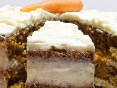 Морковный торт с ананасом