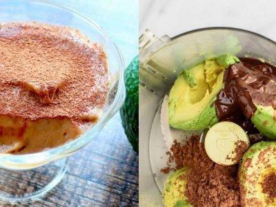 Муссовый десерт из авокадо