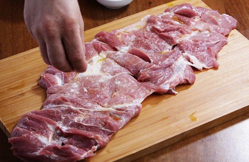 свинина с оливковым маслом