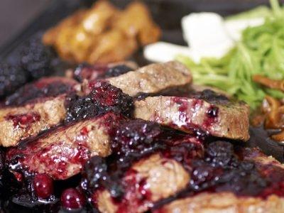 Мясо с рябиной