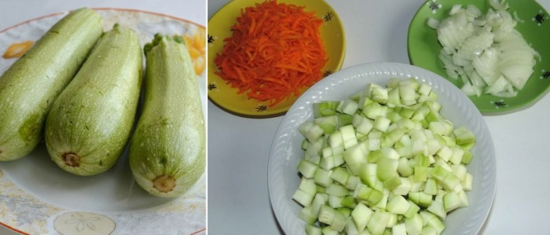 быстрый рецепт с кабачками