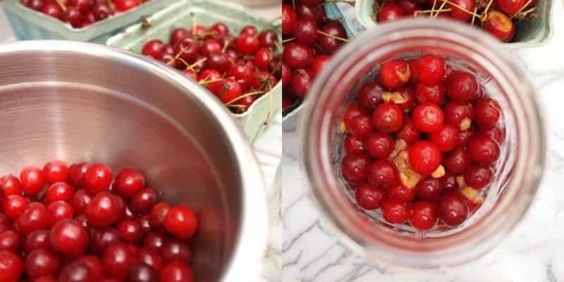 очистить вишни от косточек
