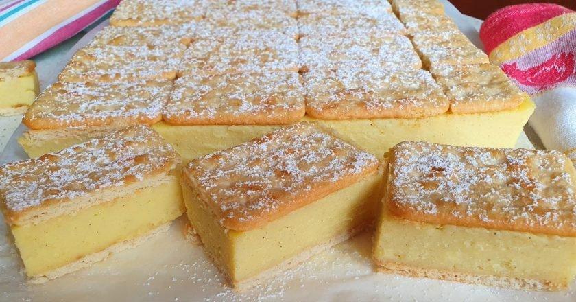 Торт «Наполеон» без выпечки: на крекерах