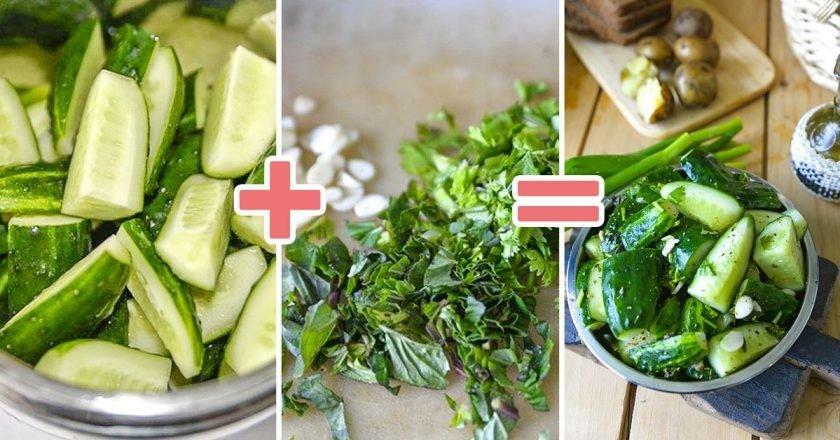 Малосольні огірки з м'ятою подивитися рецепт