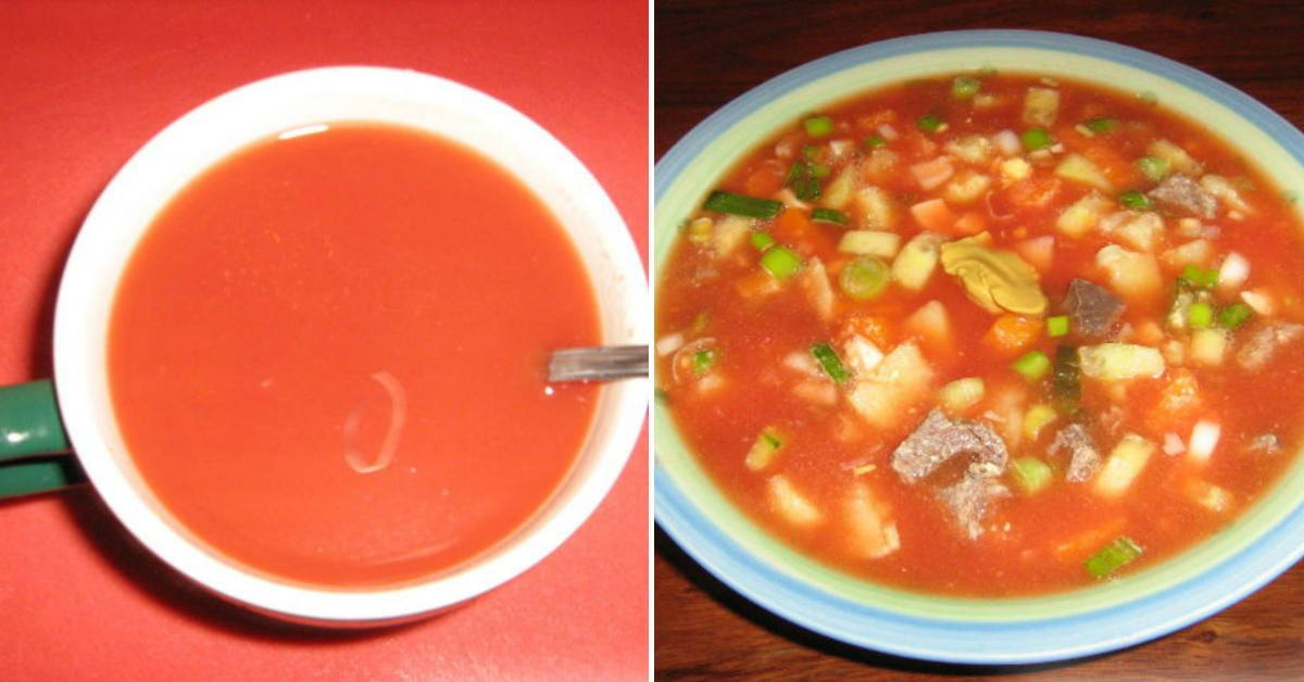 Окрошка на томатному соці