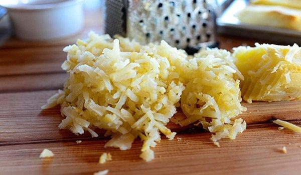 тертый печеный картофель