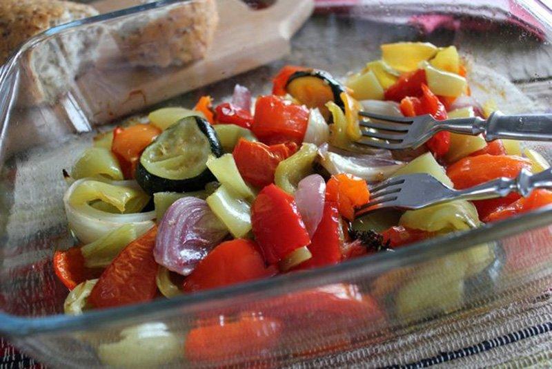 готовые овощи в духовке