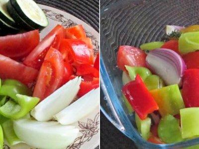 Ароматные овощи в духовке «Три перца»