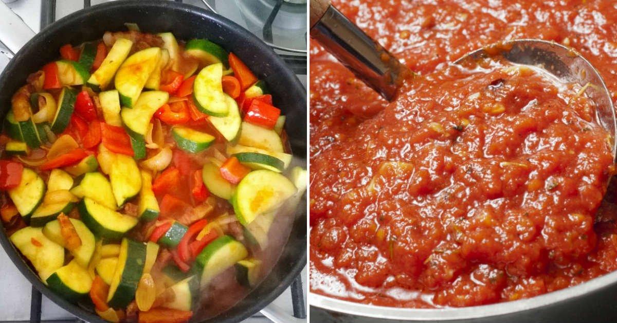 Овочеве рагу з куркою і кабачками