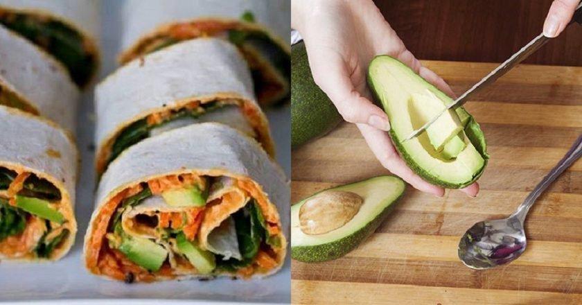 Овощные роллы с хумусом