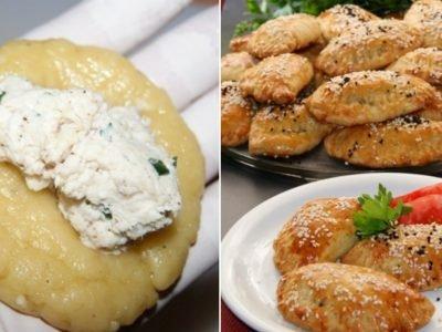 Греческие пирожки с курицей