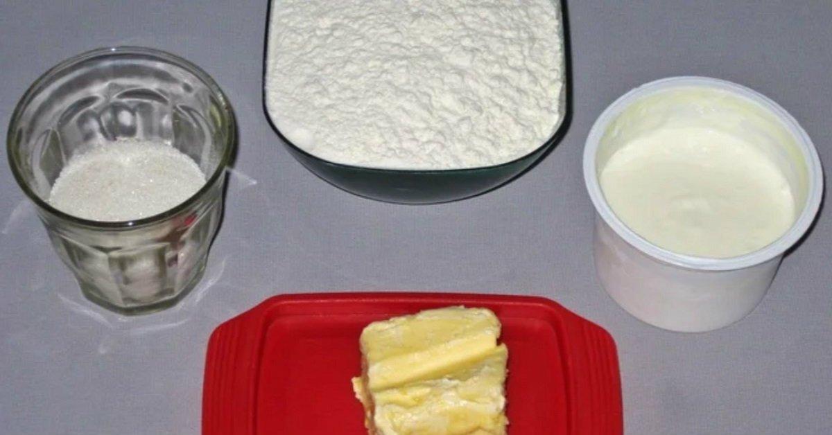 ингредиенты на песочное тесто