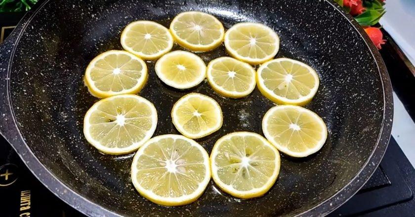 Печенье с дольками лимона