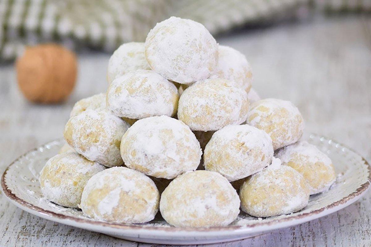 Просте пісочне печиво «Сніжок»