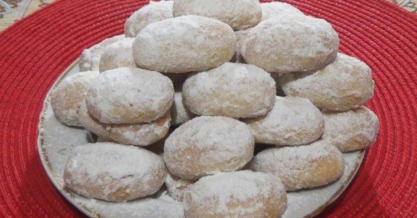 Простое песочное печенье «Снежок»