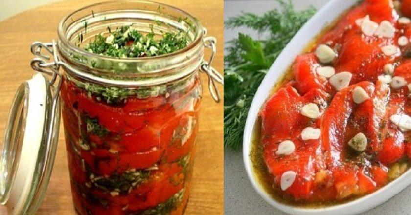перец болгарский жареный с чесноком и зеленью
