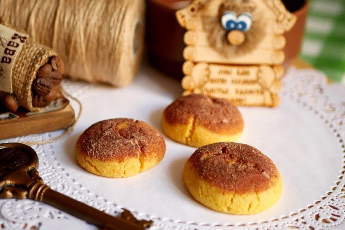 готовое песочное печенье с какао