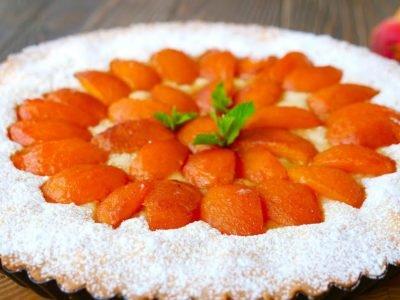 Песочный пирог с абрикосами от Ольги Матвей