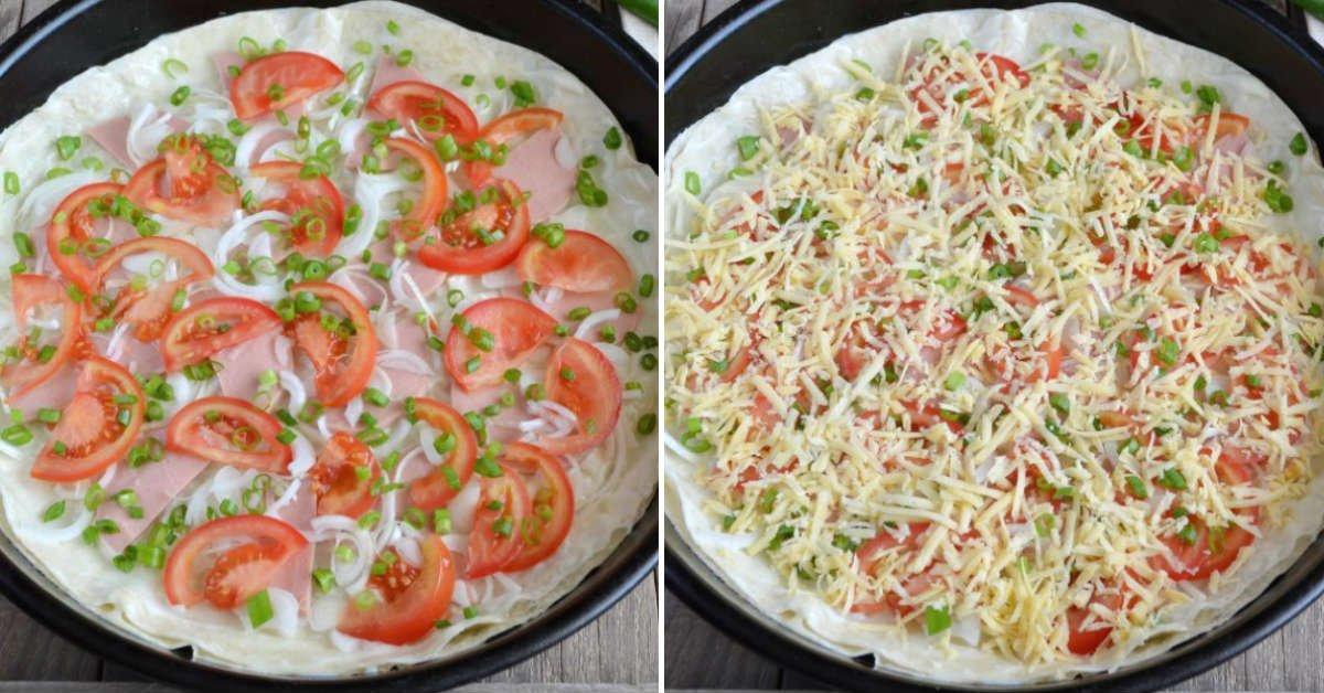 Домашня піца з лаваша в духовці