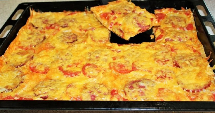 Домашня піца з лаваша в духовці подивитися рецепт