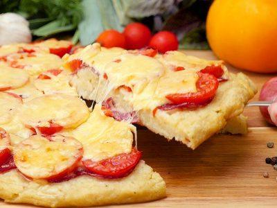 Пицца на картофельном корже