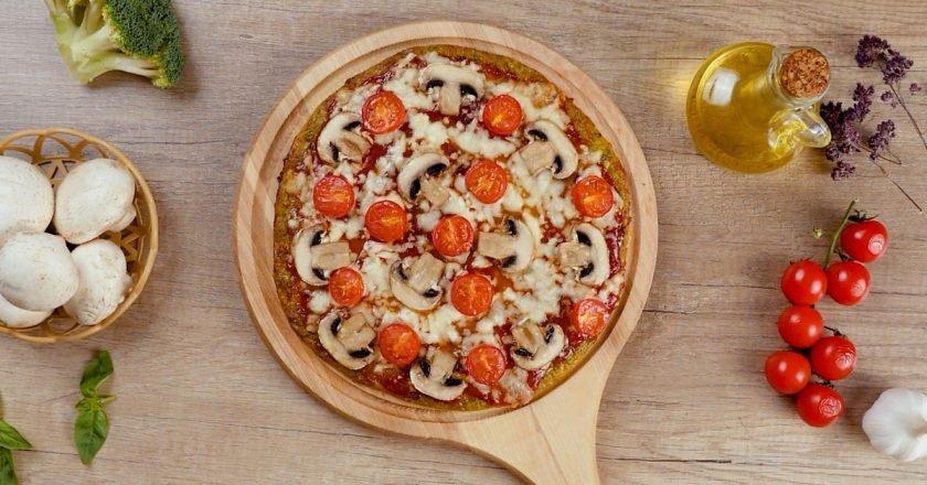 Пицца на корже из брокколи