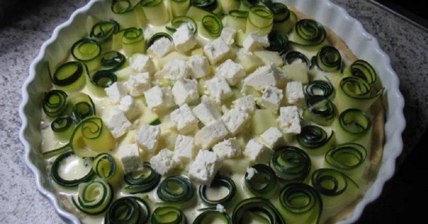 Пирог из кабачков с сыром