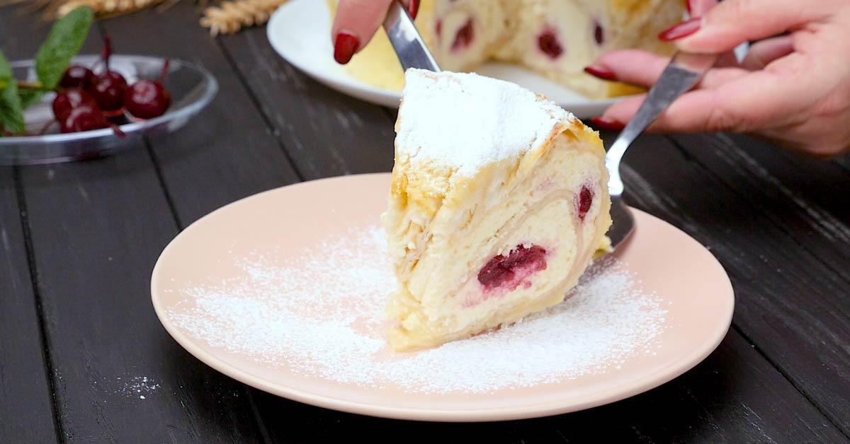 пирог из лаваша с творогом