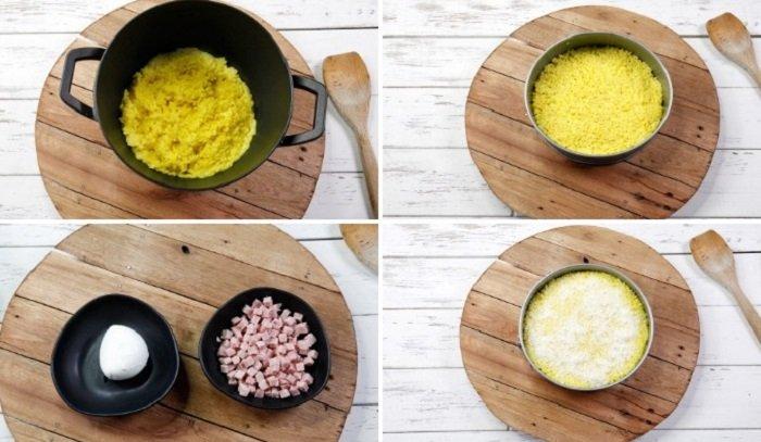 Рисовый пирог, этапы приготовления