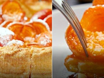 Пирог с абрикосами на песочном тесте